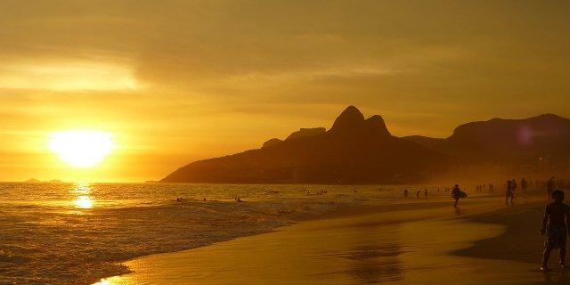 Rio de Janeiro, Brazílie, pláže, moře