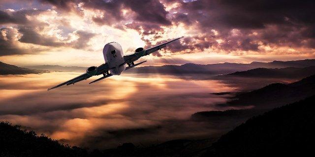 letadlo, cestování, dovolená, odlet
