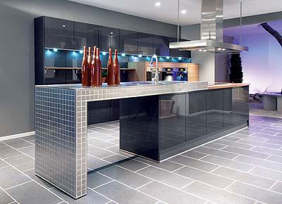 Dlažba nebo plovoucí podlaha v kuchyni