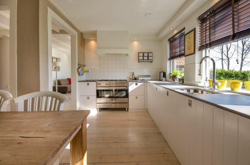 kuchyně, bydlení, design, dřevo, kuchyňská linka