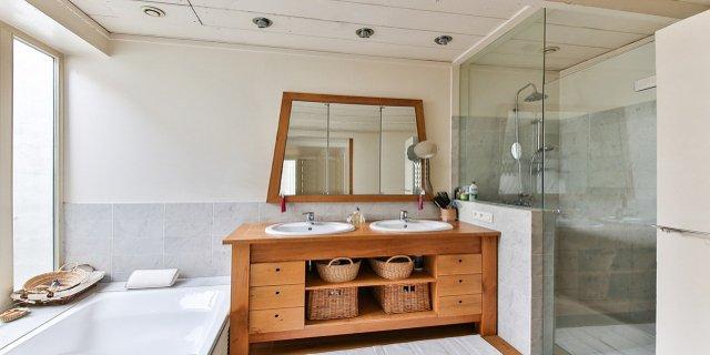 dřevo, koupelna, rekonstrukce koupelny