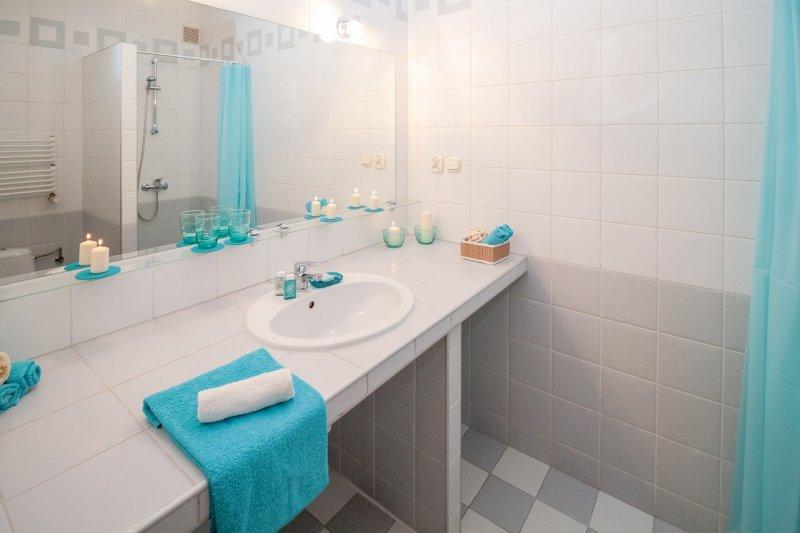koupelna, sprchový závěs, design