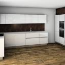 Rohová kuchyňská linka - sestava s monoblokem
