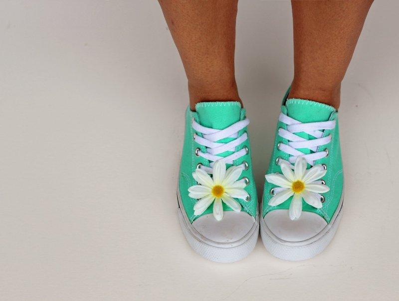 tenisky, obuv, ženy, dívky, styl