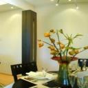 Obývací pokoj v panelovém domě