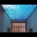 Luxusní prosvětlený strop s plnobarevným motivem - video