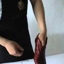 Naučte se s efektem vyčistit boty z hladké kůže - video