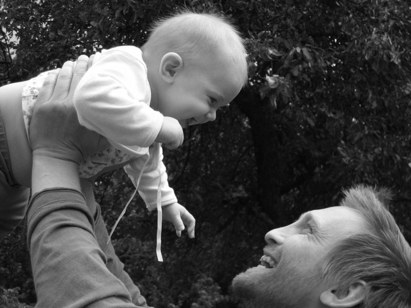děti, rodina, zdraví, otec, táta, miminko