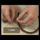 Čelenka do vlasů zdobená korálky - video