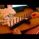 Upleťte si bambulkové šály - návod na pletení - video