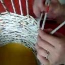 Pletení z papíru a jeho ukončení - video