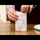 Jak si z obyčejné obálky vyrobit dárkový pytlík - video
