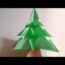 Složte si pěkný origami vánoční stromek - video