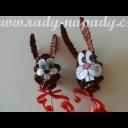 Pěkný velikonoční zajíček z papíru - video