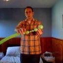 Žába udělaná z nafukovacího balónku - video