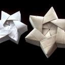 Jak vyrobit z papíru dárkovou krabičku ve tvaru vánoční hvězdy - video