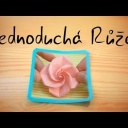 Výroba pěkné papírové růže - video