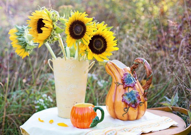 květiny, stolek nakvětiny, váza, interiér