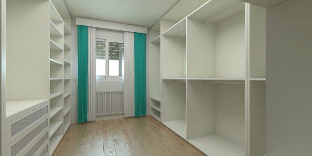 malý byt, úložné prostory, oblečení, skříně, vestavěné skříně