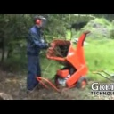 Drtič dřeva větví GTS 1300M benzínový motor - video