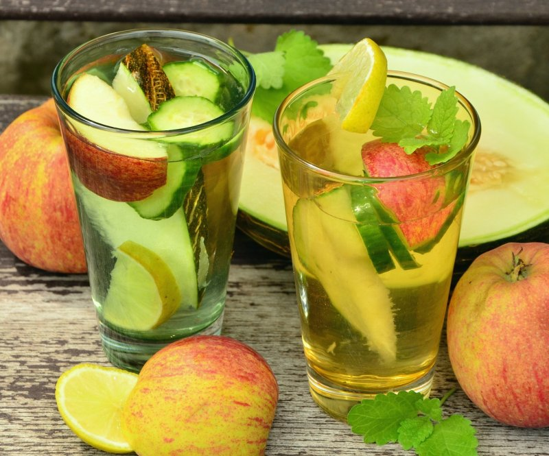 okurka, zdraví, nápoje, voda, hydratace, pitný režim